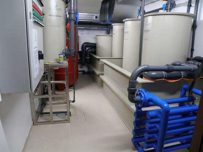 Εγκατάστασεις ενυδρείου θαλασσινού νερού 45.000 λίτρα