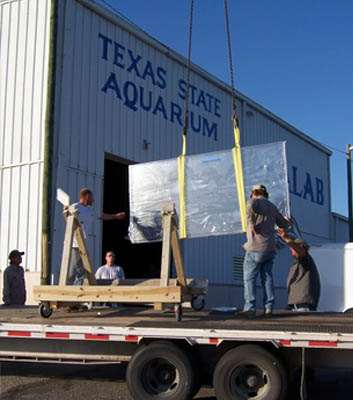 We transport the acrylic panels to your aquarium