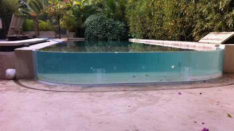 RCast acrylic pool in Athens VIP Villa
